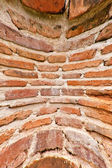 Very dirty brick wall vertical blast out — Stock Photo