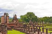 Ogólnie wat mahatat w sukhothai od góry — Zdjęcie stockowe
