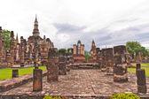 Overall of wat mahatat in sukhothai — Stock Photo