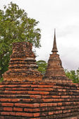 Two of pagodas in sukhothai — Stock Photo