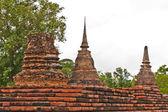 Three of pagodas in sukhothai — Stock Photo