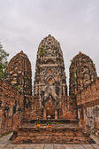 Set of three pagodas in sukhothai vertical — Stock Photo