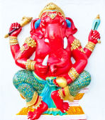 Red ganesha with green dresses — Stock Photo