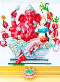 красный восемь рук ганеша с ангелом — Стоковое фото