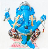 Sitting blue ganesha black dresses — Stock Photo