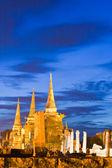 Zřícenina chrámu v ayutthaya — Stock fotografie
