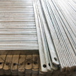 Flat metal bar stack in group — Stock Photo #6529943