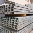 Metal girder in group tilted out — Stock Photo #6563414