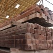 Wood girder stacked in group — Stock Photo #6638600