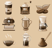 Coffee icon set. — Stock Vector