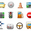 Stok Vektör: Transport and Road icon set