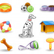 Royalty-Free Stock Vector Image: Dog care icon set.