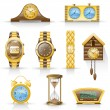 Watches icon set. - Stock Vector