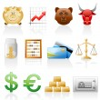 Finance icon set. — Stock Vector