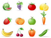Fruit and Vegetables — Stock Vector
