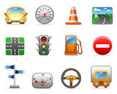 Transport and Road icon set — Stock Vector