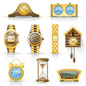 Relojes icon set. — Vector de stock