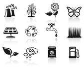 Environment icon set. — Stock Vector