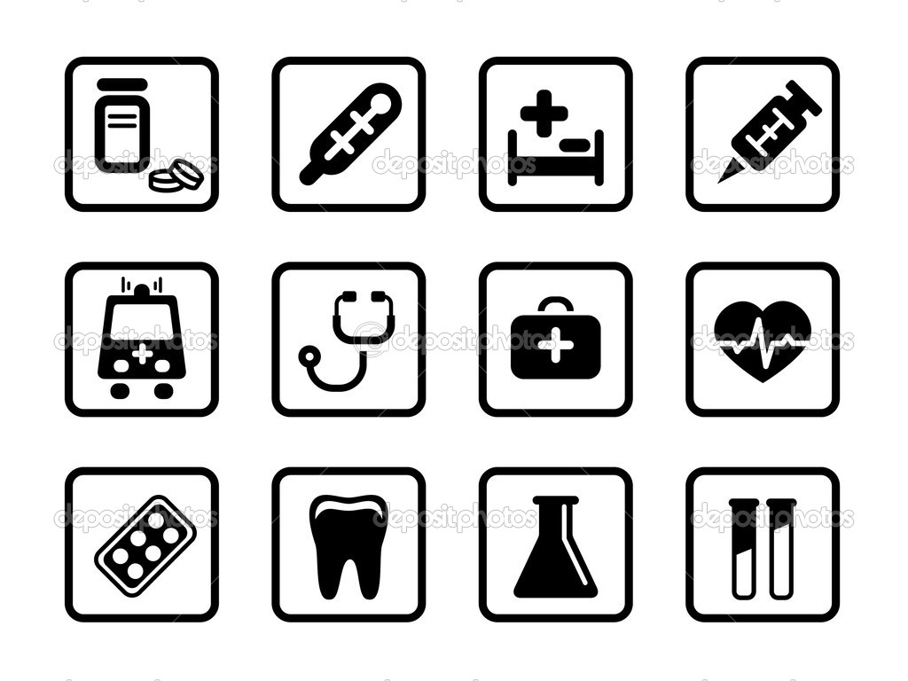 Set of icons on a medicine theme. — Stock Vector #5669609
