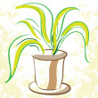 Plant in a flowerpot — Stock Vector