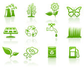 Environment green icon set — Stock Vector