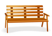 Park bench — Vector de stock
