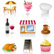 Cafe icon set. — Stock Vector