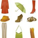 Woman fashion icon set — Stock Vector