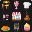 Cafe icon set. — Stock Vector #6554121