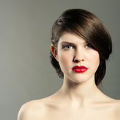 Portrait of a young woman — Stock Photo