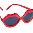 Sunglasses with red lip shaped frame — Stock Photo