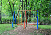 Landscape with children seesaw — Stockfoto