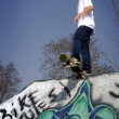 Skateboarder ready to drop in — Stock Photo