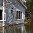 Stock Photo: Flooded Home