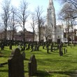 Old burial ground in downtown Halifax - Stock Photo