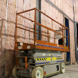 Industrial mobile scaffold - Stockfoto