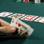 Watching poker game with winning hand — Stock Photo #5852569