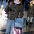Woman with bags shopping on street — Stock Photo #5852728