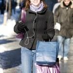Woman shopping on street — Stock Photo #5852733