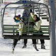 Two sisters on chair lift — Stock Photo #5852778