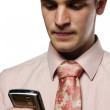 Young business man on cell phone — Stock Photo #5853140