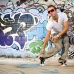 Hip hop dancer dancing — Stock Photo #5853303
