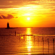 Delaware Lighthouse sunset - Stock Photo