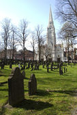 Old burial ground in downtown Halifax — Stock Photo