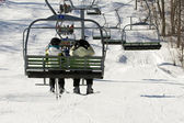 Two on chairlift — Fotografia Stock