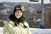 Portrait of woman skier — Stock Photo