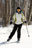 Skier in snow — Stock Photo