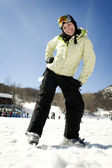 Beautiful girl skier — 图库照片