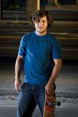 Skater w parking podziemny — Zdjęcie stockowe