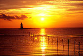Delaware Lighthouse sunset — Stock Photo